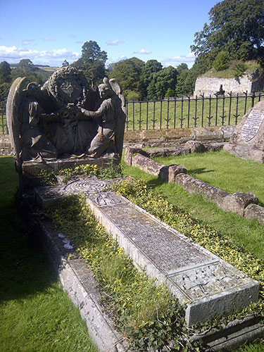 Grave at Lindisfarne
