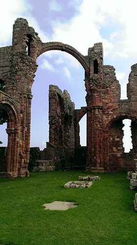 Lindisfarne Priory - photo by Jenn Scott