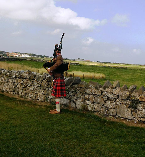 Piper at Lindisfarne - photo by Jenn Scott