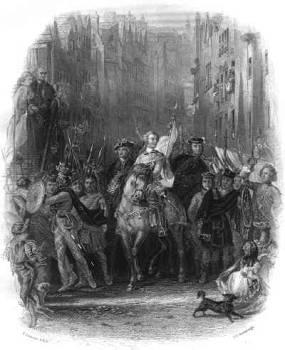 Bonnie Prince Charlie's Arrival in Edinburgh